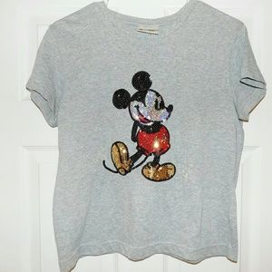 Vintage | Sequined Mickey Mouse Graphic Tee